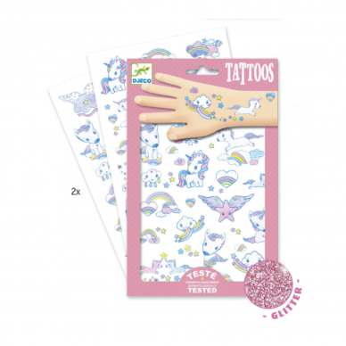 """Laikinosios tatuiruotės vaikams """"Vienaragiai"""" 3"""