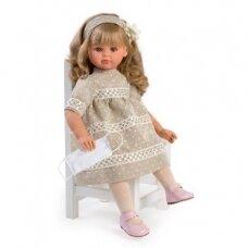 Lėlė Pepa smėlio spalvos suknele, 57cm