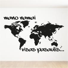 """Lipdukas žemėlapis """"Pasaulis mano namai""""- didelis"""