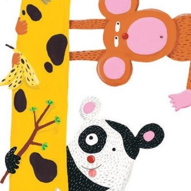 """Lipdukas ūgio matuoklis """"Žirafa ir draugai"""" 2"""