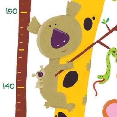 """Lipdukas ūgio matuoklis """"Žirafa ir draugai"""" 3"""