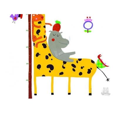 """Lipdukas ūgio matuoklis """"Žirafa ir draugai"""" 4"""