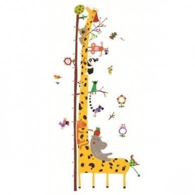 """Lipdukas ūgio matuoklis """"Žirafa ir draugai"""""""