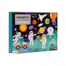 """Petit Collage magnetinis žaidimas """"Kosmose"""""""