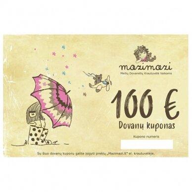 mazimazi.lt parduotuvės elektroninis dovanų kuponas 100eur