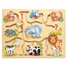 """Medinis labirintas """"Afrikos gyvūnai"""", 10 mėn.+"""