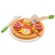 """Medinis žaislas """"Pica saliami"""""""