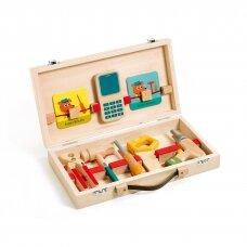 """Medinių įrankių dėžė meistriukui """"Super Bricolo"""""""