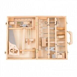 Medinių įrankių dėžė staliaus padėjėjui DIDELĖ