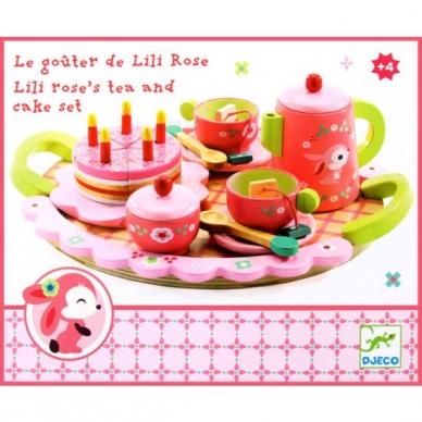 """Medinis arbatos ir torto rinkinys """"Rožės"""" 3"""