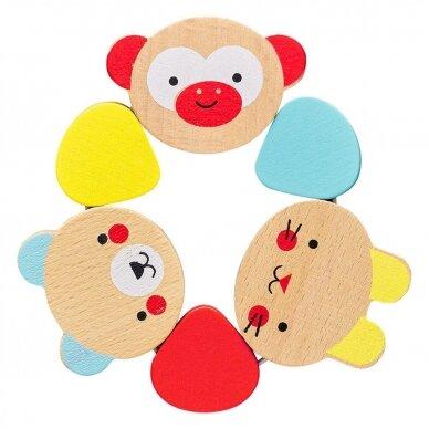 """Medinis kūdikio žaislas """"Šypsenėlės"""" 4"""