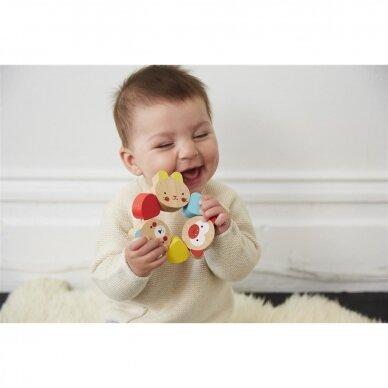 """Medinis kūdikio žaislas """"Šypsenėlės"""" 5"""