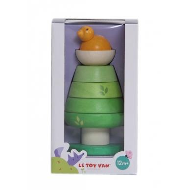 """Medinis lavinamasis žaislas piramidė """"Medis"""" 2"""
