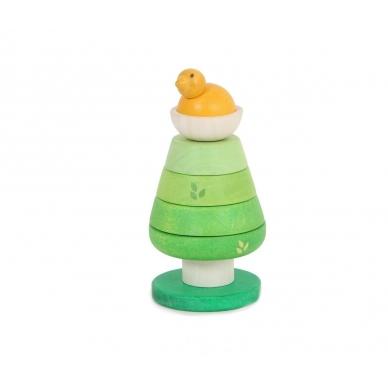"""Medinis lavinamasis žaislas piramidė """"Medis"""""""