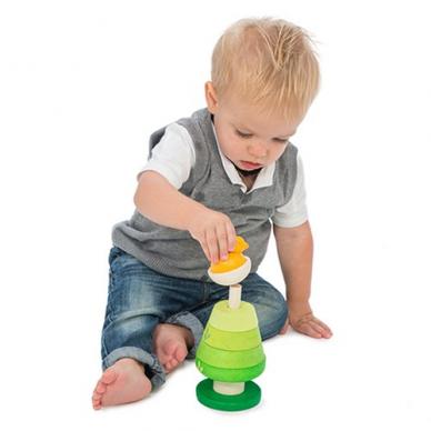 """Medinis lavinamasis žaislas piramidė """"Medis"""" 5"""
