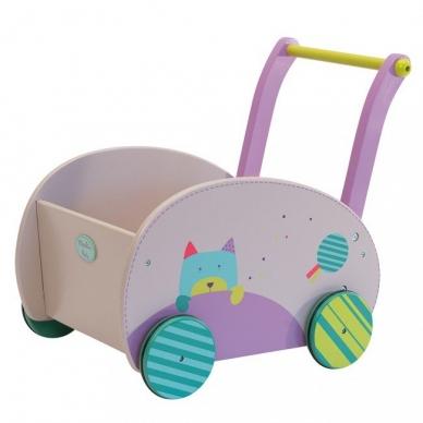 """Medinis vežimėlis """"Pelytė ir katytė"""" 2"""