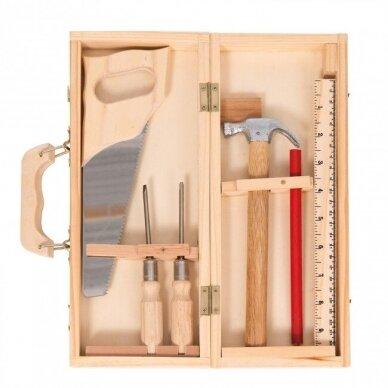 Medinių įrankių dėžė staliaus padėjėjui 3