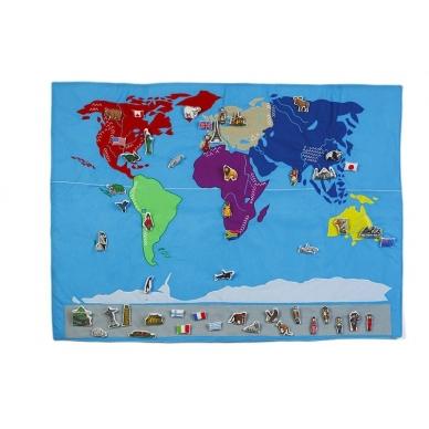Medžiaginis pasaulio žemėlapis 2