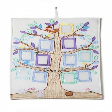 Medžiaginis šeimos medis, pastelinis 2