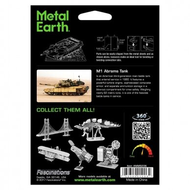 "Metalinis 3D konstruktorius ""M1 Abrams Tank"" 5"