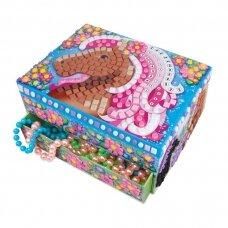 """Papuošalų dėžutė - mozaikos rankdarbis """"Žirgas"""""""