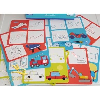 """Mokomosios piešimo kortelės """"Transportas"""" 5"""