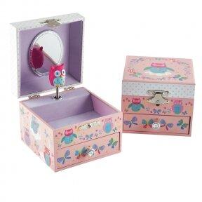 Muzikinė papuošalų dėžutė, Pelėda ir Drugelis