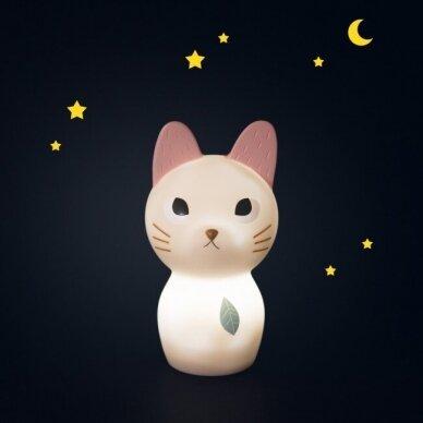 """Naktinis šviestuvas """"Draugiška katytė"""" 3"""