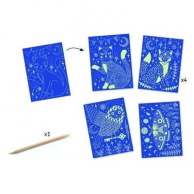 """Nutrinamų kortelių rinkinys """"Naktis miške"""" 2"""