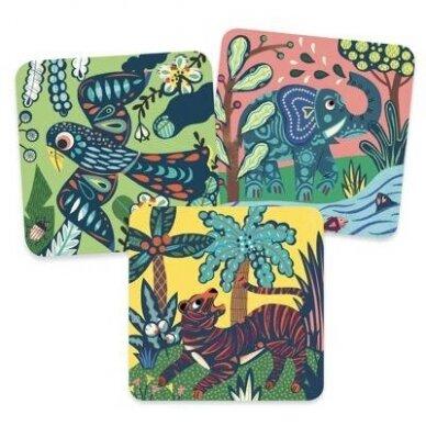 """Nutrinamų kortelių rinkinys """"Dideli gyvūnai"""" 2"""