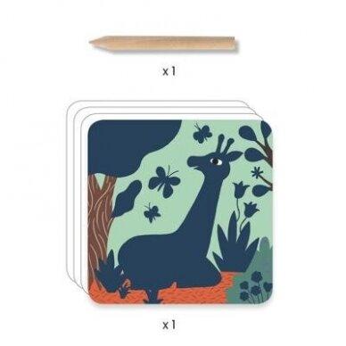 """Nutrinamų kortelių rinkinys """"Dideli gyvūnai"""" 3"""
