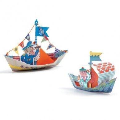 "Origami rankdarbis ""Laiveliai"" 2"