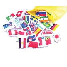 Pasaulio vėliavos - rinkinys medžiaginiam žemėlapiui