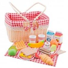 Pikniko krepšys su vaišėmis