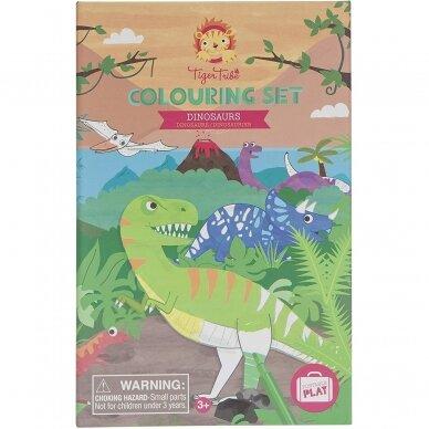 """Spalvinimo rinkinys su flomasteriais """"Dinozaurai"""" 5"""