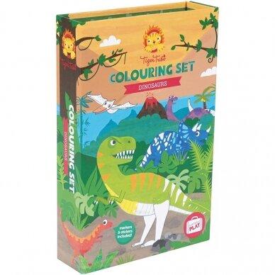 """Spalvinimo rinkinys su flomasteriais """"Dinozaurai"""""""
