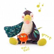 """Pliušinis muzikinis žaislas """"Paukštis Tukanas"""""""