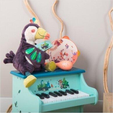 """Pliušinis muzikinis žaislas """"Paukštis Tukanas"""" 3"""