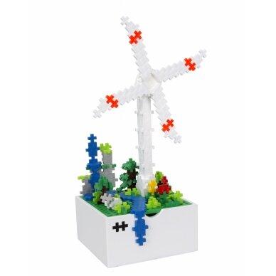 Plus Plus konstruktorius, Vėjo malūnas, medinė dėžutė 6