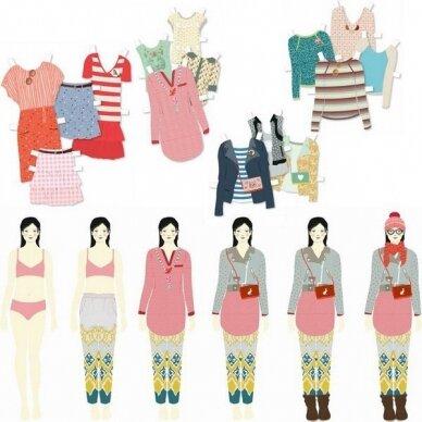 """Popierinių lėlių rinkinys """"Didelė drabužinė"""" 3"""