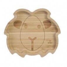 """Prilimpanti bambukinė lėkštė """"Liūtas"""""""