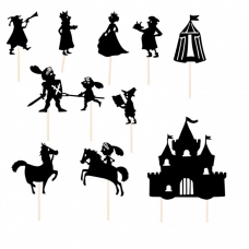 """Šešėlių teatras """"Viduramžių karalystėje..."""""""