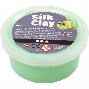 Šilkinis modelinas - žalia spalva, 40 gr