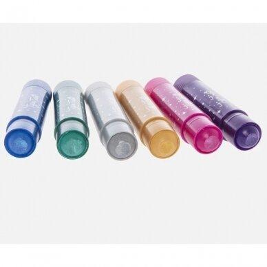 Šilkinės metalik spalvų kreidelės 4