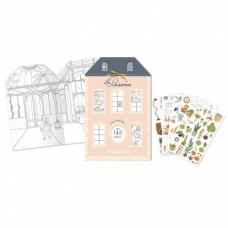"""Spalvinimo knygelė """"Paryžietės"""" su lipdukais"""