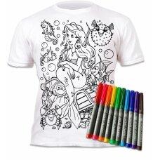 Splat Planet marškinėliai su flomasteriais, Undinėlė