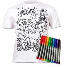 Splat Planet marškinėliai su flomasteriais, Vienaragiai