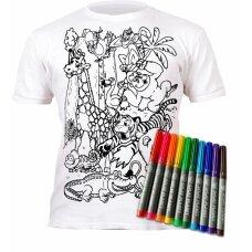 Splat Planet marškinėliai su flomasteriais Zoologijos sodas