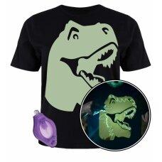 Splat Planet šviečiantys tamsoje marškinėliai, Dinozauras