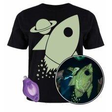Splat Planet šviečiantys tamsoje marškinėliai, Kosmose
